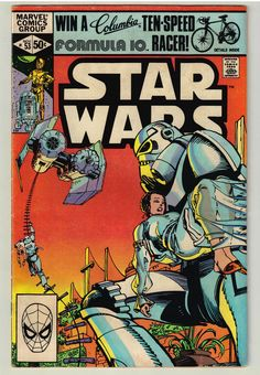 Marvel Comics of the 1981 - Anatomy of a Cover - Star Wars by Walt Simonson Star Wars Comic Books, Star Wars Comics, Marvel Comic Books, Clone Wars, Star Wars Holonet, Saga, Nerd, Darth Vader, Classic Comics