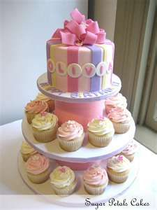 was thinking about just having cupcakes for everyone and one small special smash cake for birthday girl