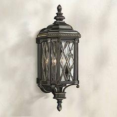 "Bexley Manor 25 1/4""H Diamond Black Outdoor Wall Light"