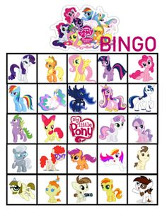 FREE My Little Pony Birthday Party Bingo Printables