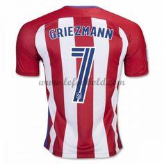 Billige Fodboldtrøjer Atletico Madrid 2016-17 Griezmann 7 Kortærmet Hjemmebanetrøje