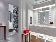 Bathroom at The Baccarat Hotel New York