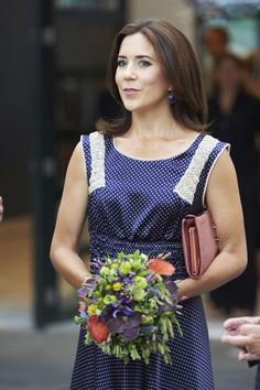 Crown Princess Mary of Denmark visits the Copenhagen International Fashion Fair at the Bella Center on 8 Aug 2013