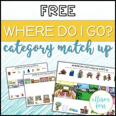 FREE Category Match Up Worksheets Speech Therapy by Allison Fors Preschool Speech Therapy, Speech Therapy Activities, Speech Language Pathology, Language Activities, Speech And Language, Articulation Activities, Preschool Songs, Preschool Ideas, Phonics