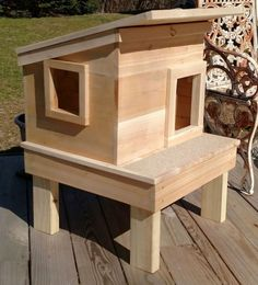 Outdoor Cat House on Platform                                                                                                                                                                                 More