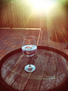 Scottish Gin on a Whisky Barrel Table