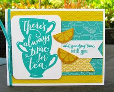 Krystal's Cards: Stampin' Up! A Nice Cuppa - Time For Tea #stampinup #krystals_cards #anicecuppa #onlinecardclass