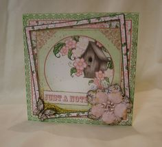 Made by Anne Waller - I used papers, stamps and die cuts from the Ariana Blooms Collection to create this glitter shaker card.
