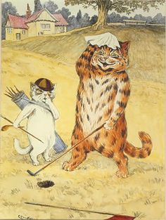 Louis Wain was a English artist with enthusiasm for personified cats. Vintage Humor, Vintage Cat, Illustrations, Illustration Art, Louis Wain Cats, Cat Work, Cat Drawing, Pics Art, Crazy Cats