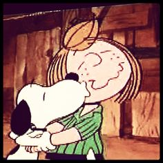 Love between Snoopy and Peppermint Patty