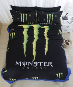 rare monster energy beach towel bedspread for my new. Black Bedroom Furniture Sets. Home Design Ideas