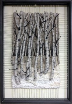 COUCHING WALL HANGING           PC  Dimensional Weaving - Martina Celerin 3D fiber art