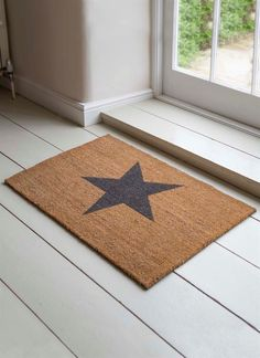 Our Large Star Doormat is ideal for wiping the mud off before entering the house and made from coir, it is durable, robust and offers plenty of space for a family full of shoes which need cleaning!