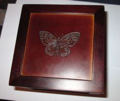 Just listed! Gorgeous. Jewelry Box Wood * Hives and Honey * Butterfly * NWT  * Square 5 Inch by 5 Inch  #HivesandHoney