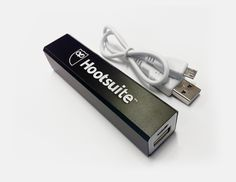 Stay charged up with this Hootsuite external battery!