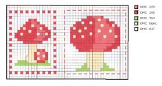 Woodland Toadstool Cross-stitch Chart