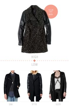 High + Low: The Wool & Leather Coat - Home - Creature Comforts - daily inspiration, style, diy projects + freebies