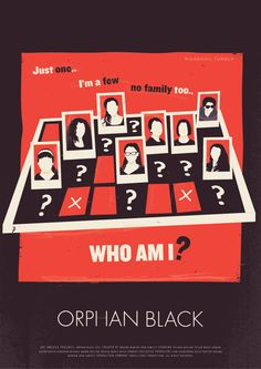 I felt the need to pin a poster for Orphan Black because this show is AMAZING.