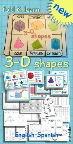 3-D shapes foldable $ english-spanish
