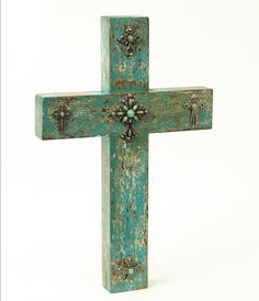 Rustic Turquoise Crosses.. Love this!