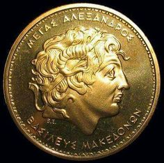 Alexander king of Macedonia Greece Culture, Alexandre Le Grand, Places In Greece, Roman Jewelry, Greek History, My Ancestors, The Son Of Man, Alexander The Great, Macedonia