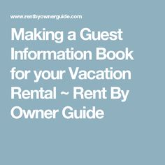 Making a Vacation Rental Check-Out Checklist ~ Rent By Owner Guide ...