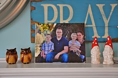 DIY Photo canvas with tissue paper
