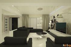 Design interior casa moderna Constanta Conference Room, Interior Design, Modern, Table, Furniture, Home Decor, Nest Design, Trendy Tree, Decoration Home
