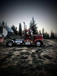 Rv Truck, Big Rig Trucks, Mini Trucks, Cool Trucks, Peterbilt 359, Peterbilt Trucks, Chevy Trucks, Pickup Trucks, Custom Big Rigs