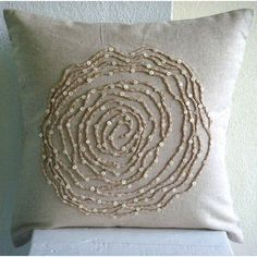 Earthy Rose - 16x16 Inches Throw Pillow Covers - Linen Pilllow Cover with Jute Embroidery The HomeCentric,http://www.amazon.com/dp/B0043NI8IG/ref=cm_sw_r_pi_dp_Q-vXsb08HBFN2QG8