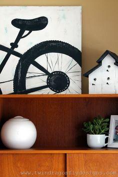 Mountain Bike Silhouette Painting DIY