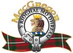 """MacGregor Clan Tartan the Crest """"A lion's head erased Proper, crowned with an antique crown Or'. MacGregor Clan motto is chosen by the Clan Chief.  'S RIOGHAL MO DHREAM Royal Is My Race. MacRory Mor"""