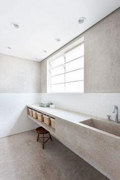 Amazing long sink! [ Wainscotingamerica.com ] #Bathrooms #wainscoting #design