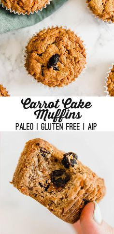 These carrot cake muffins are simply the best! They're paleo, AIP, and made without grains, nuts or eggs.