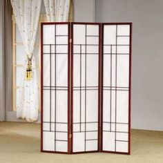 Check out the Coaster Furniture 900110 Panel Folding Screen in Cherry priced at $81.40 at Homeclick.com.