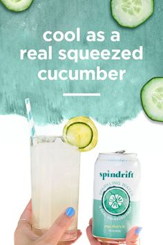 you know it's summer when the cucumbers come out. and you know it's a spindrift® summer when we squeeze them into gin – you're welcome ; Refreshing Drinks, Fun Drinks, Cold Drinks, Healthy Drinks, Party Drinks, Beverages, Bartender Recipes, Drinks Alcohol Recipes, Non Alcoholic Drinks