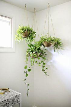 set di 2 cestelli pensili per fiori da interno o est Appendi piante in macramè