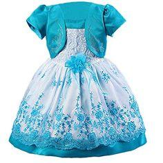Waboats floral para niña Vestido con estampado Noche Vestidos de Fiesta Boda Dark Azul 6M