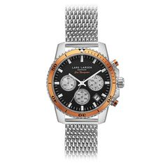 LW42 · Ladies watch · Stainless steel Chronograph. An exclusive Sea Navigator sports- and divers watch with a twist of orange. A Danish designed watch, which you easily can change the look with a leather strap.