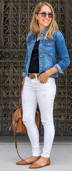 New dress blue outfit jeans ideas Look Fashion, Trendy Fashion, Autumn Fashion, Fashion Outfits, Dress Fashion, Fashion Clothes, Jeans Fashion, Fashion Spring, Fashion Ideas