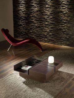 Elegante mueble auxiliar o mesa central en oscuro Center Table, Dark, Furniture Design, Centerpieces, Mesas, Elegant, Home