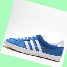 Women's Adidas Originals Gazelle Og Shoes Blue/White/Gold,FASHION STYLE!