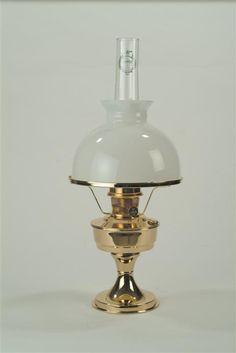Lehman's - Simple, yet elegant Aladdin Brass Oil Lamp and White Student Shade