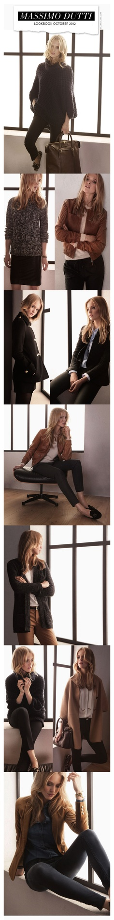 Massimo Dutti Lookbook October 2012