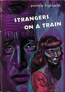 Strangers on a Train is a psychological thriller novel by Patricia Highsmith. It was adapted as a film in 1951 by director Alfred Hitchcock. Alone In A Crowd, Ruth Roman, James Lee Burke, Elmore Leonard, Thriller Novels, Raymond Chandler, Reading Library, Book Cover Art, Studio