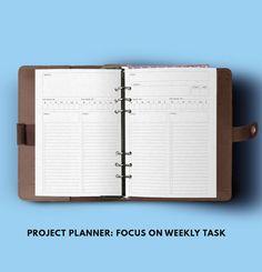 Filofax A5 Project Planner A5 Filofax insert Printable