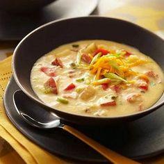 Diabetic Recipes for Fall Diabetic Living Online Hearty Ham and Potato Soup Diabetic Soups, Diabetic Snacks, Healthy Snacks For Diabetics, Diabetic Cake, Pre Diabetic, Diabetic Recipes For Dinner, Fall Recipes, Soup Recipes, Diet Recipes