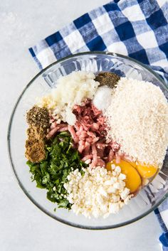 Rich ground lamb mixed with fresh parsley, garlic, feta, breadcrumbs, and other herbs and spices to make these fantastic Baked Greek Feta Meatballs. Lamb Recipes, Entree Recipes, Greek Recipes, Cooking Recipes, Meatball Recipes, Panini Recipes, Fun Recipes, Amazing Recipes, Homemade Aioli