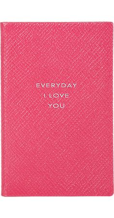 "Smythson ""Everyday I Love You"" Notebook -  - Barneys.com #barneys #smythson #notebook #stationery"