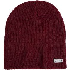 Neff Daily Beanie ($16) ❤ liked on Polyvore featuring accessories, hats, beanies, red, red beanie, acrylic beanie hat, neff beanie, acrylic hat and red beanie hat